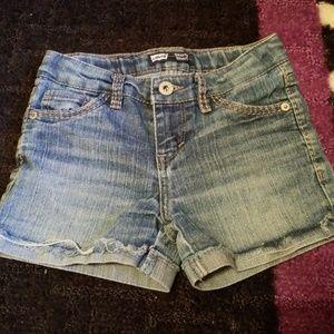 Girls Levi's shorty shorts size 7